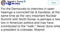 Manchetes Americanas 4 Março 2019: Trump e Cohen e o fracasso da cimeira de Hanói
