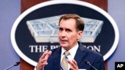 امریکی محکمہ دفاع کے ترجمان، جان کربی (فائل فوٹو)