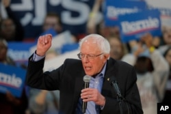 Democratic presidential candidate, Sen. Bernie Sanders, I-Vt., speaks at a campaign event in Myrtle Beach, S.C., Feb. 26, 2020.