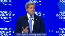 Kerry Slams Corruption at Davos Forum