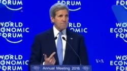 Kerry Slams Corruption at Davos Forum