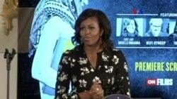 Michelle Obama y las niñas