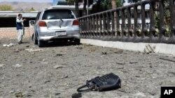صوبہ سمنگان کے دارالحکومت، ایبک میں ہونے والے دھماکے کا ایک منظر (فائل)