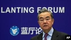 왕이 중국 외교담당 국무위원 겸 외교부장 (자료사진)