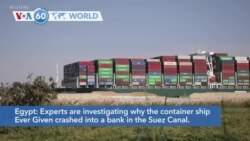 VOA60 Addunyaa - Egypt: More than 100 ships have passed through the Suez Canal since reopening