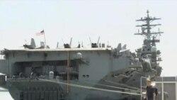美国一航母战斗群抵韩参加年度联合军演