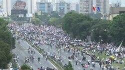 """Oposición venezolana realiza """"plantón nacional"""""""