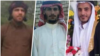 Undated images of three Iranian Arab dissidents who were executed at a prison in Ahvaz, southwestern Iran, on Feb. 28, 2021. From left: Naser Khafajian, Jasem Heidary and Ali Khasraji. (VOA Persian)