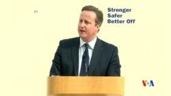2016-05-09 美國之音視頻新聞: 卡梅倫說英國退出歐盟有戰爭風險