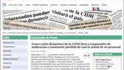 CIDH enfrenta fuerte crisis financiera
