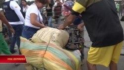 Hàng Mỹ viện trợ Venezuela dồn ứ ở Colombia