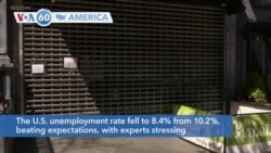 VOA60 Ameerikaa - U.S. unemployment fell to 8.4% from 10.2% as the economy recovers from COVID-19