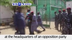 VOA60 Africa - Sierra Leone: Police fire guns and tear gas at the headquarters of an opposition party