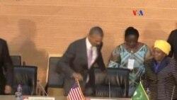 """Barack Obama: """"Estoy ante ustedes como hijo de un africano"""""""