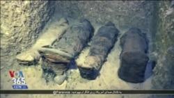 مقام های مصری آرامگاه کشف شده با دهها مومیایی را به روی خبرنگاران گشودند