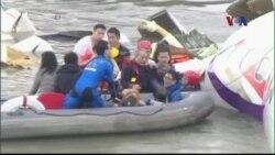 Tiếp tục tìm kiếm hành khách mất tích trong vụ rơi máy bay Đài Loan