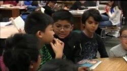Diskusi Politik Anak-anak Sekolah Dasar di Maryland