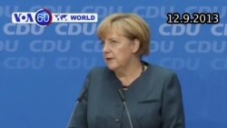 Thủ tướng Merkel thắng lớn trong cuộc bầu cử Quốc hội (VOA60)