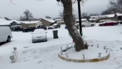 Video taken by Mr. Lamkeo Soundara after snow fall had stop at his brother's home in Dallas, Texas.