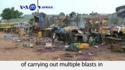 VOA60 Africa -Suicide Bombers Kill 18 in Nigeria - October 5, 2015