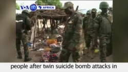 VOA60 Africa - Twin Suicide Bombings Kill 20 in Cameroon - September 4, 2015