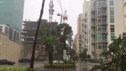 Fuertes vientos de Irma desploman grúa en Miami