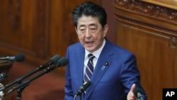 安倍星期一(1月20日)稱 日本將組建太空防御部門。