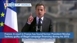 VOA60 World - Court Convicts Former French Leader Sarkozy in Campaign Finance Case