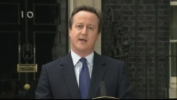 British PM David Cameron on His Resignation