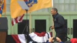 ປະທານາທິບໍດີ Obama ຢ້ຽມຢາມລັດ New Jersey