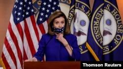 ທ່ານນາງ Nancy Pelosi ໄດ້ສະເໜີນິຕິກໍາສ້າງຕັ້ງຄະນະກໍາມະການດ້ານລັດຖະທໍາມະນູນສະບັບດັດແກ້ຄັ້ງທີ 25 ຢູ່ໃນກອງປະຊຸມຖະແຫລງຂ່າວໃນນະຄອນຫລວງວໍຊິງຕັນ, ວັນທີ 10 ຕຸລາ 2020