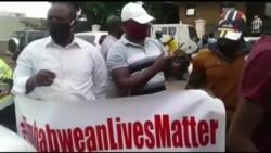 MDC Alliance Activists Protest Outside Zimbabwe Embassy