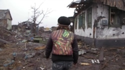 In Ukraine's Nikishino, No House Untouched by Fighting