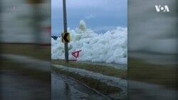 Дивіться: крижане цунамі біля Ніагарського водоспаду. Відео