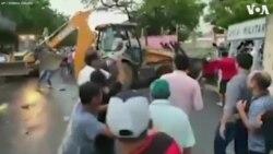 Imagens do momento em que senador brasileiro Cid Gomes foi baleado