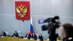资料照片:俄罗斯下院杜马。