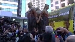 2017-09-24 美國之音視頻新聞: 美國首座慰安婦塑像在三藩市揭幕 (粵語)