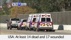 VOA60 World- At least 14 people dead after shooting in San Bernadino, California, in the western U.S.