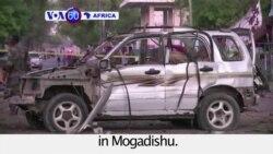 VOA60 Africa - Car Bomb Kills 5, Injures 11 in Mogadishu