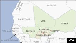 Ramani ya Burkina Faso