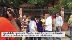 Opositora Maribel Castillo denuncia 'ventajismo' del oficialismo