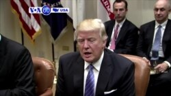 VOA60 America - President Donald Trump meets with business leaders