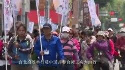 台北高雄举行反中国并吞台湾正名大游行
