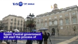 VOA60 World PM - Catalan, Spanish Leaders Dig In Heels in Independence Standoff