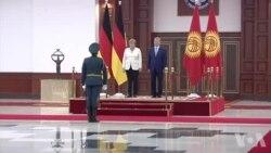 Angela Merkel Qirg'izistonda