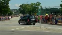 美國參議員麥凱恩下葬在母校