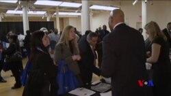 美國2月份淨增23萬5千個就業機會 (粵語)