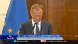 BE, Tusk: Shqipëria meriton hapjen e bisedimeve