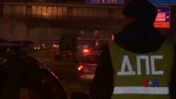 俄罗斯卡车司机在莫斯科举行抗议