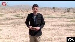 Journalist Naaeim Najafi, pictured reporting for Gali Kurdistan TV. (Photo courtesy of Naaeim Najafi)